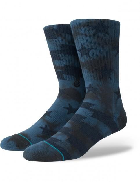 Stance Side Reel Crew Socks in Navy