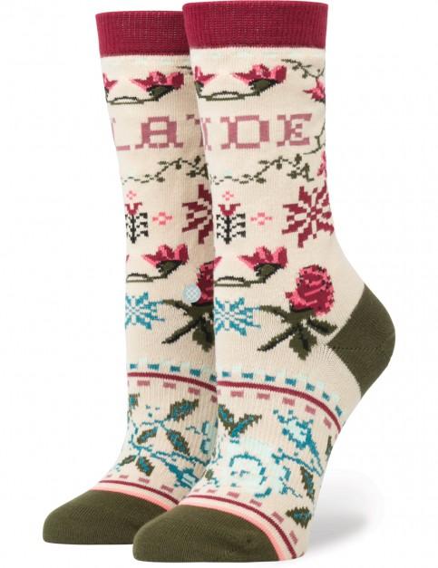 Stance Slay Ride Tomboy Socks in Cream