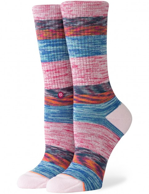 Stance Women/'s You Make Me Melt Crew Socks in Lilac Ice