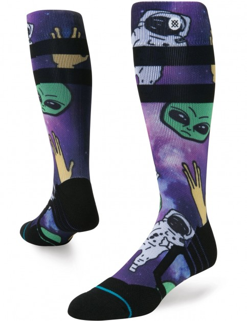 Stance Space Out Snow Socks in Purple
