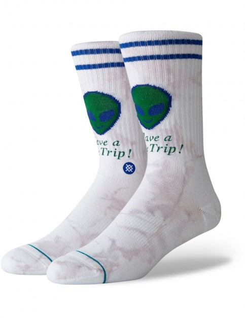 Stance Space Trip Crew Socks in White