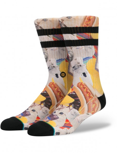 Stance Spacecats Crew Socks in Yellow