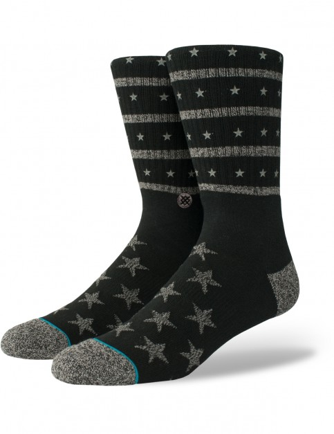 Stance Stacked Crew Socks in Black