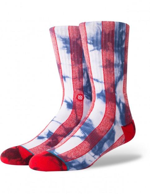 Stance Star Crew Socks in Red