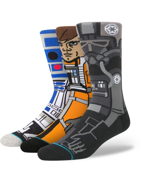 Stance Star Wars A New Hope 3 Pack Socks in Black