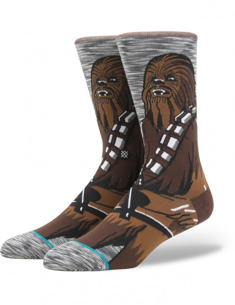 Stance Star Wars Chewie Pal Crew Socks in Grey