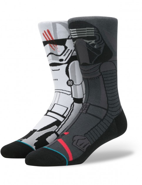 Stance Star Wars Disturbance Crew Socks in Grey