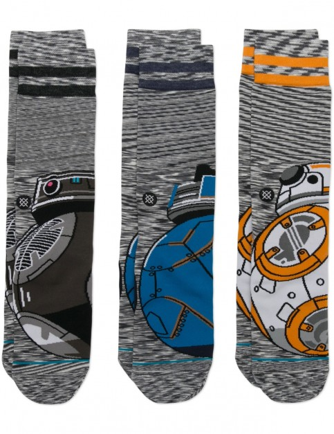 Stance Star Wars Droid 3 Pack Crew Socks in Multi