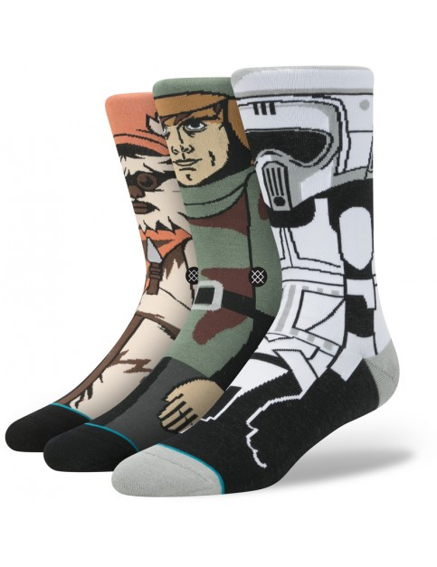 Stance Star Wars Return Of The Jedi 3 Pack Socks in Black