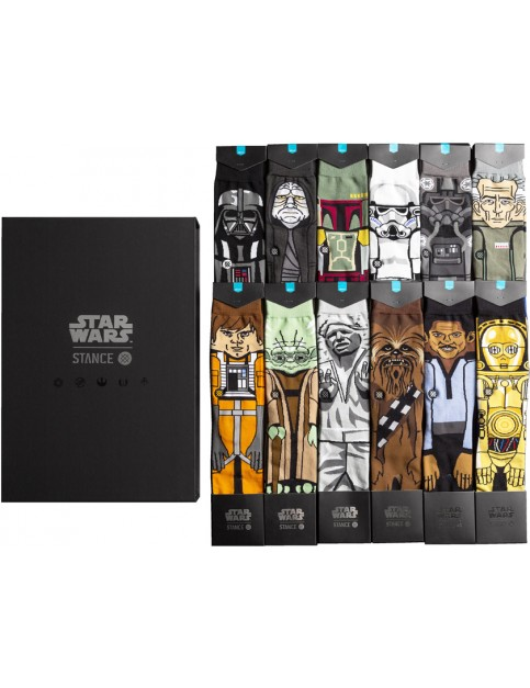 Stance Star Wars The Force 2 12 Pack Socks in Black