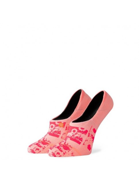 Stance Sunny Fleur No Show Socks in Neon Coral