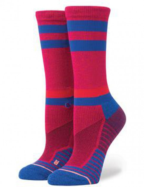 Stance Superset Crew Socks in Magenta