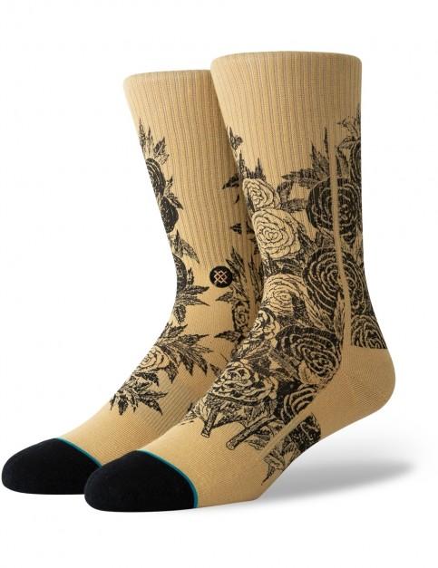 Stance Thorn Crew Socks in Tan