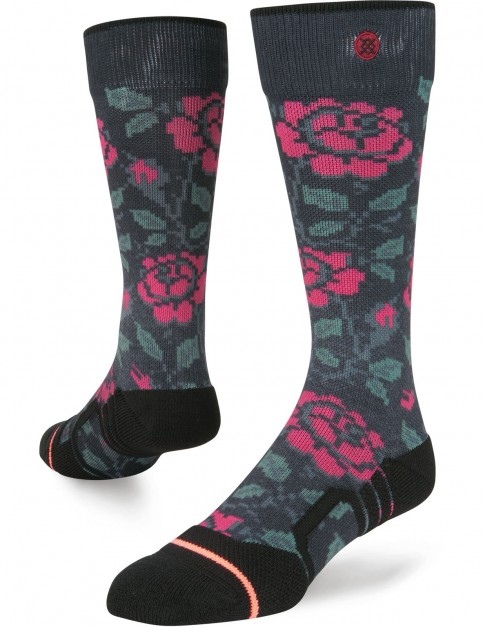 Stance Thorn Patch Snow Socks in Black