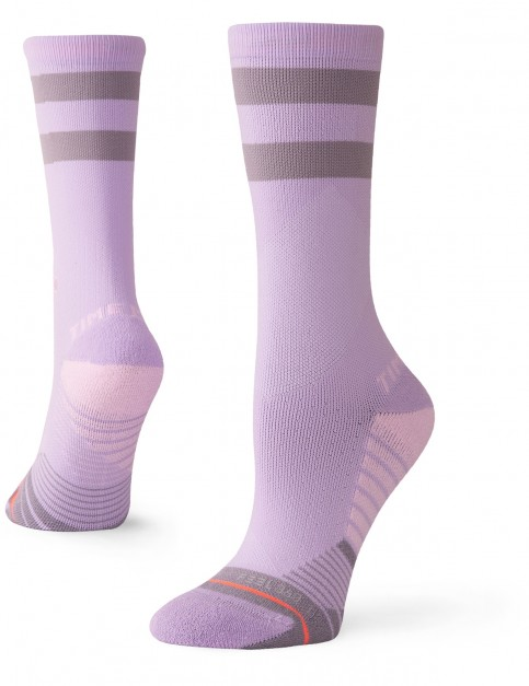 Stance Time Me Crew Crew Socks in Lavender