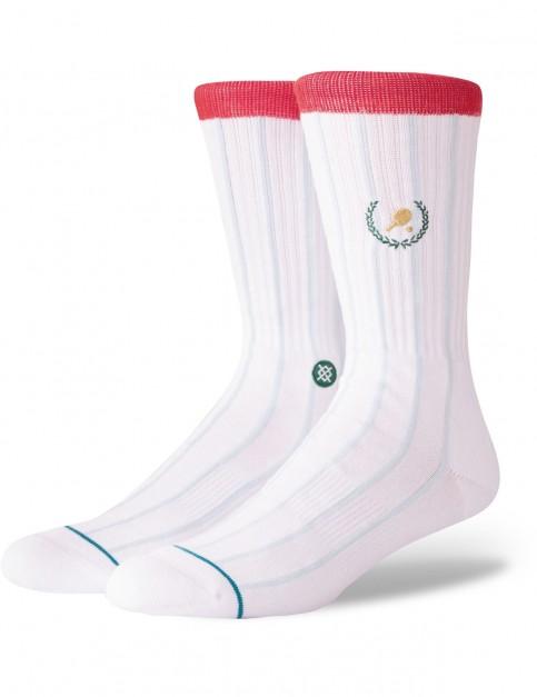 Stance Topspin Crew Socks in White