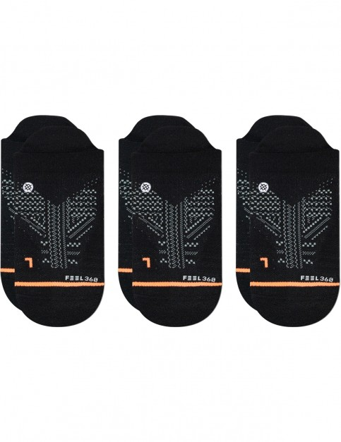 Stance Train Tab 3 Pack No Show Socks in Black