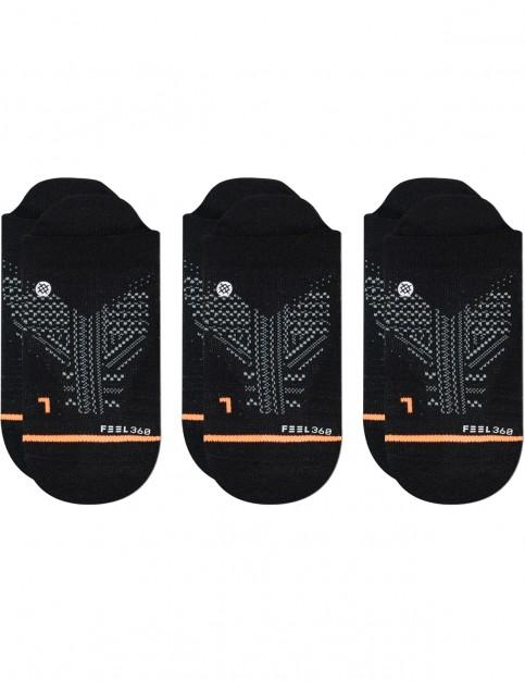 Stance Train Tab 3 Pack No Show Socks in Black