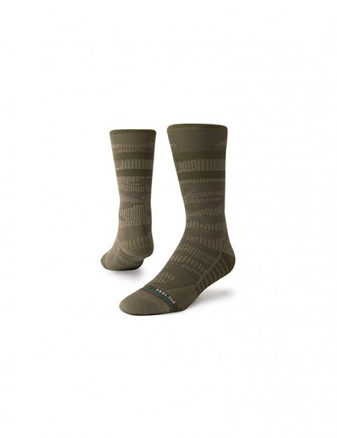 Stance Training Uncommon Solids Crew Crew Socks in Olive