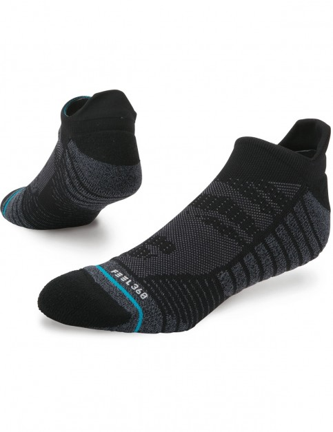 Stance Training Uncommon Solids Tab No Show Socks in Black