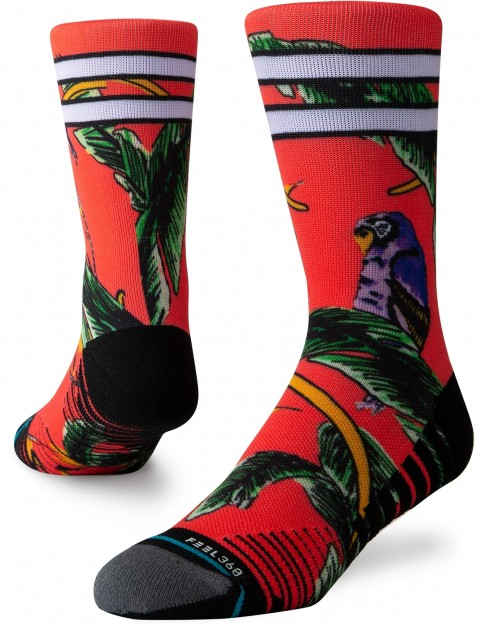 Stance Tripicana Crew Socks in Red