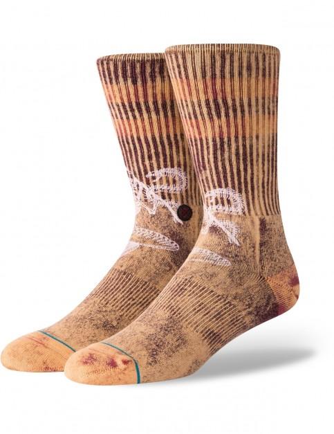 Stance Tritton Crew Socks in Maroon