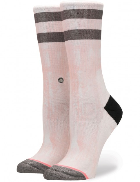 Stance Ty Lily Crew Socks in Pink