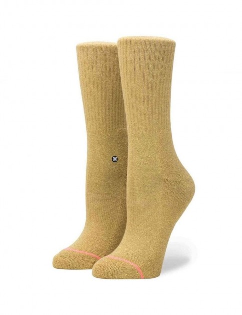 Stance Uncommon Classic Crew Crew Socks in Gold