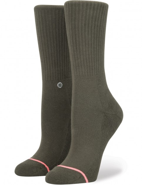 Stance Uncommon Classic Crew Crew Socks in Green