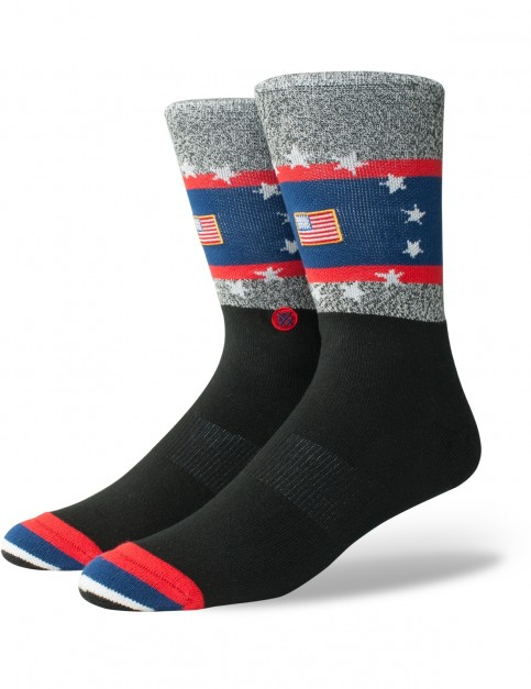 Stance Usa Praise Crew Socks in Black
