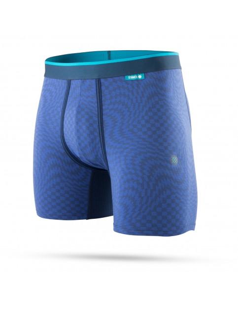 Stance Warped Check Underwear in Blue