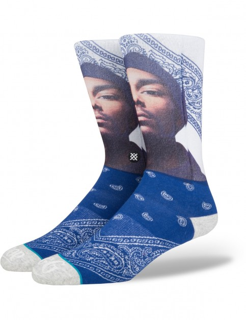 Stance Whats My Name Crew Socks in Navy