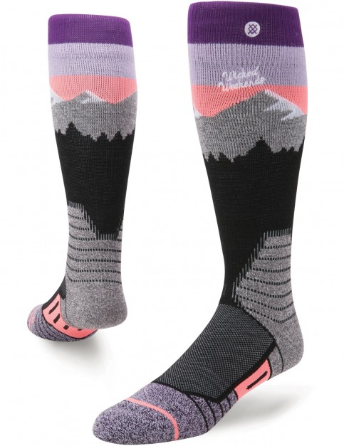 Stance White Caps Snow Socks in Purple