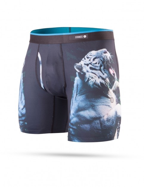 Stance White Tiger Underwear in Black