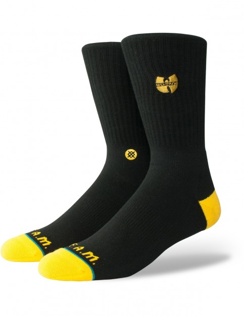Stance Wu-Tang Patch Crew Socks in Black