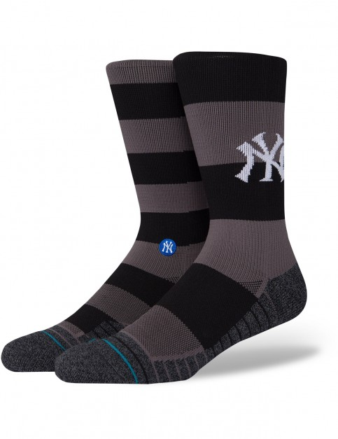 Stance Yankees Nightshade Crew Socks in Black