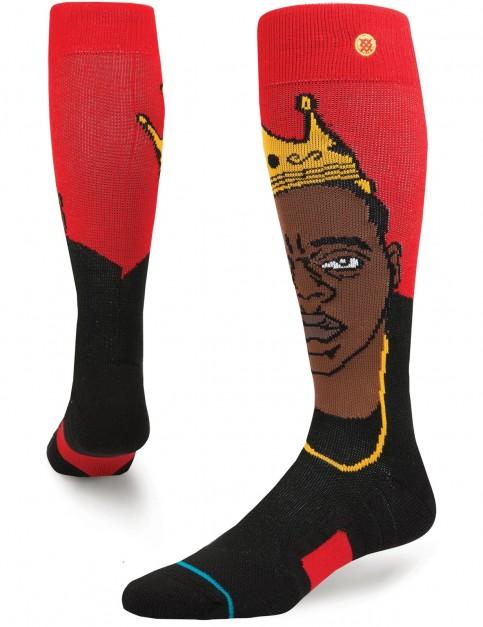 Stance Yo Bigs Snow Socks in Red