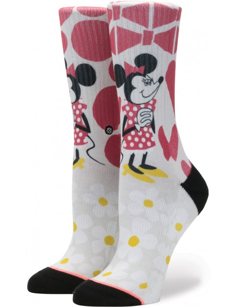 Stance Yusuke Minnie Crew Socks in Off White