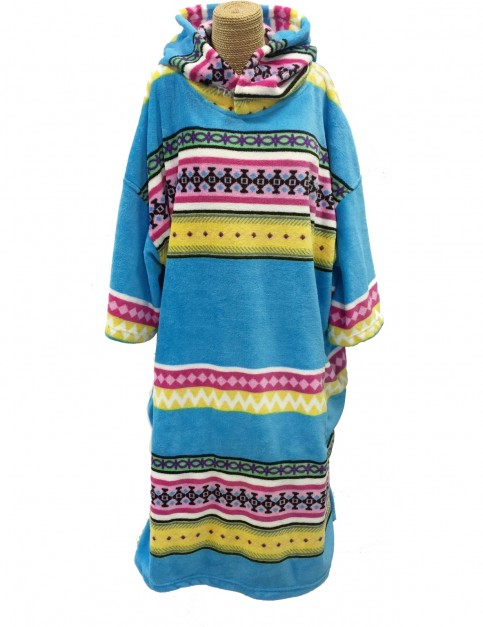 Tools Ethnic Stripe Hooded Towel in Blue