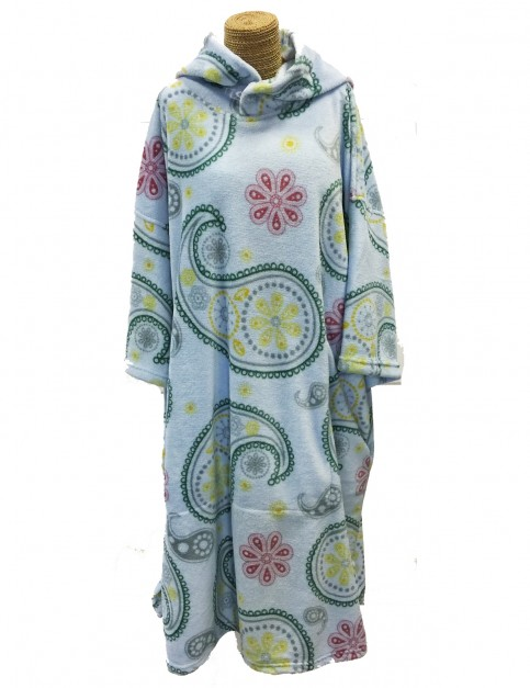Tools Paisley Hooded Towel in Blue