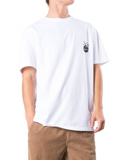 Rusty Burned Short Sleeve T-Shirt in White