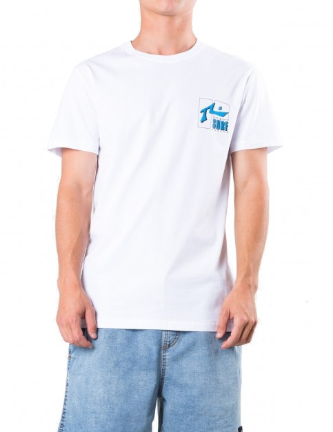 Rusty Del Mar Short Sleeve T-Shirt in White