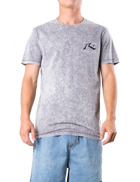 Rusty TV Screen 7 Wash Short Sleeve T-Shirt in Coal