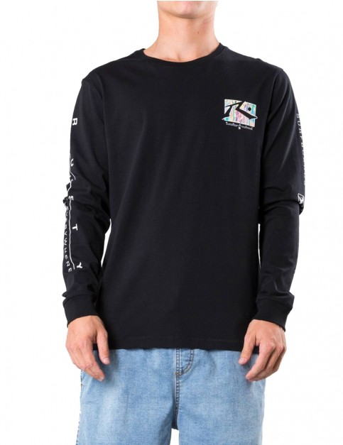 Rusty TV Screen 7 Long Sleeve T-Shirt in Black