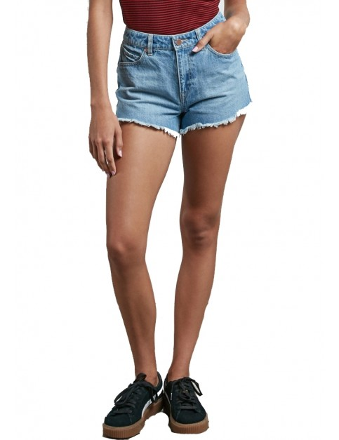 Volcom 1991 Denim Shorts in Blue Fog