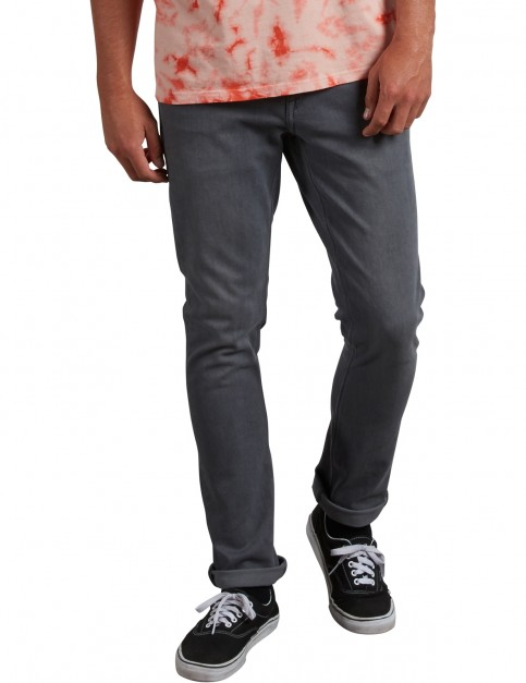 Volcom 2X4 Denim Straight Fit Jeans in Grey Vintage