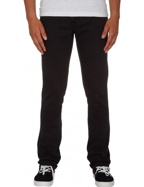 Volcom 2X4 Denim Straight Fit Jeans in Ink Black
