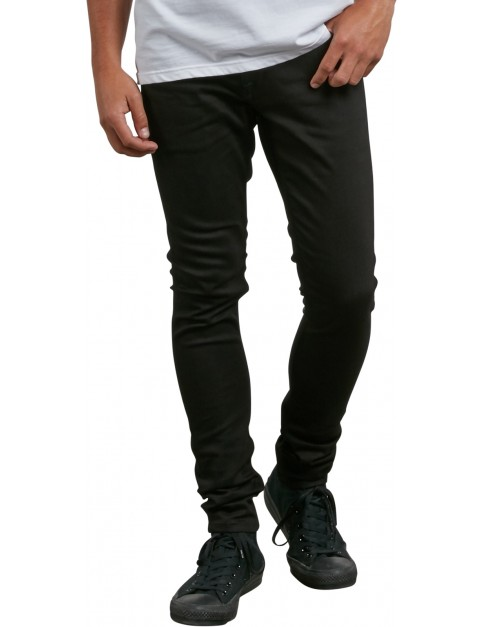 Volcom 2X4 Tapered Straight Fit Jeans in Ink Black