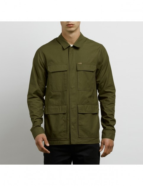 Volcom Academy Jacket in Seaweed Green