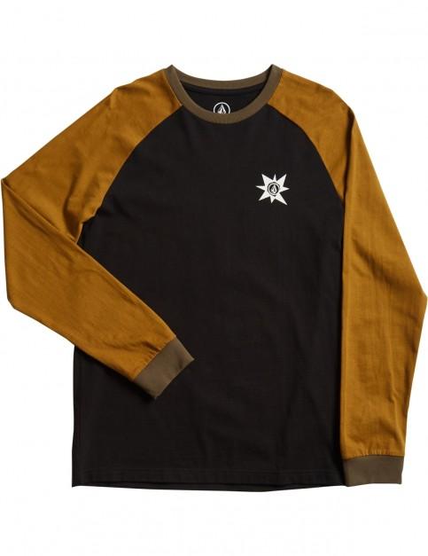 Volcom A.P. Long Sleeve T-Shirt in Hazelnut